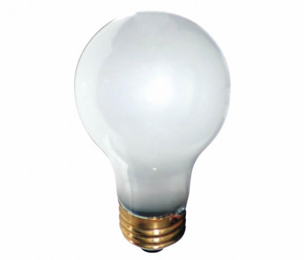 100 Watt A19 20,000 Hour Rough Srv Super Long Life 100A19 FROST Light Bulb 3-pcs