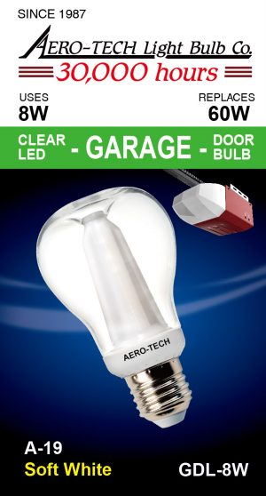 8W Garage Door LED Light Bulb